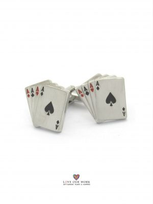 """""""POKER ACE"""" PLAYING CARDS CUFFLINKS"""