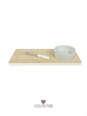 Bamboo and Ceramic One Bowl Set