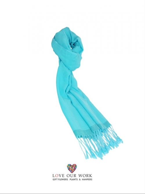 Light Blue Scarf is made from a beautiful lightweight 100% Cotton