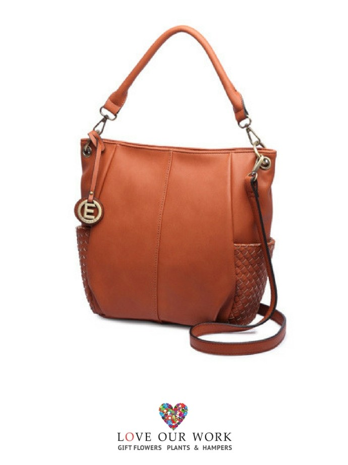 Brown Vegan leather tote bag is a very good everyday bag with beautiful details