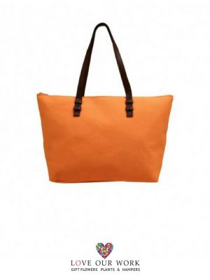 Julee | Orange Canvas Tote Bag