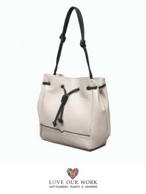 Tasha Beige Vegan Leather Convertible Backpack and Bag