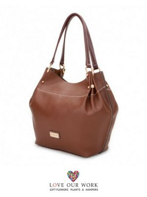Allaire | Brown Vegan Leather Tote Bag
