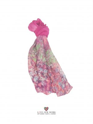 Pink Watercolor Scarf