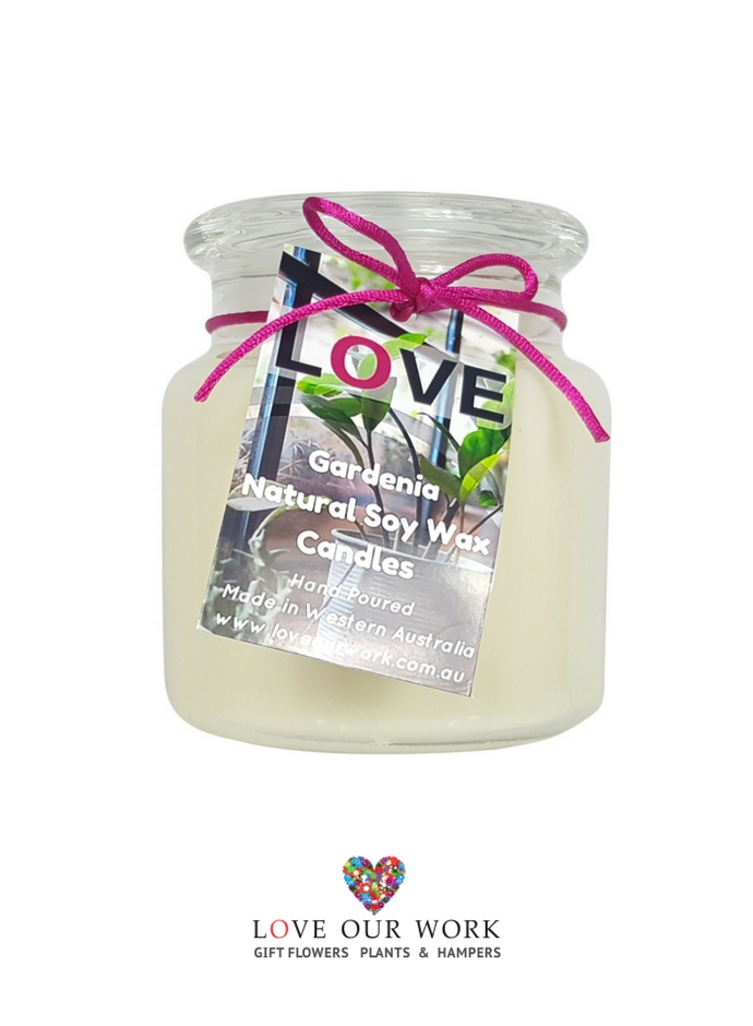 Gardenia Triple Scented Soy Candle has three layers of sent, so as the candle burn's down the sent changes.
