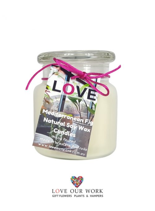 Mediterranean Fig Triple Scented Soy Candle has three layers of sent,