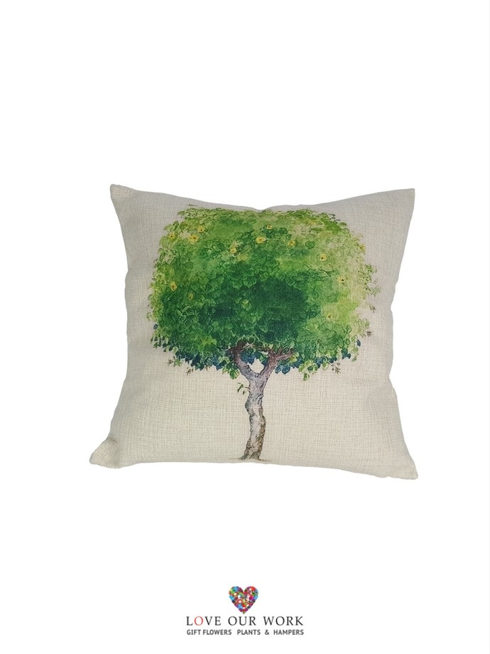 Natural Tree cushions are luxuriously soft to the touch.