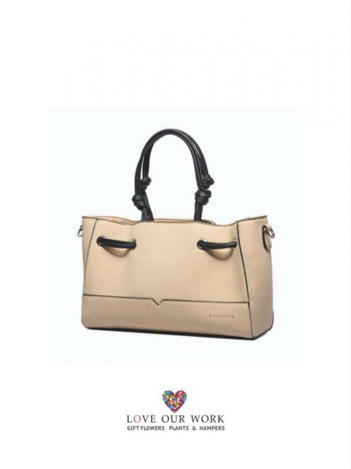 This Amazing Serena Beige Vegan Leather Bag with Clutch
