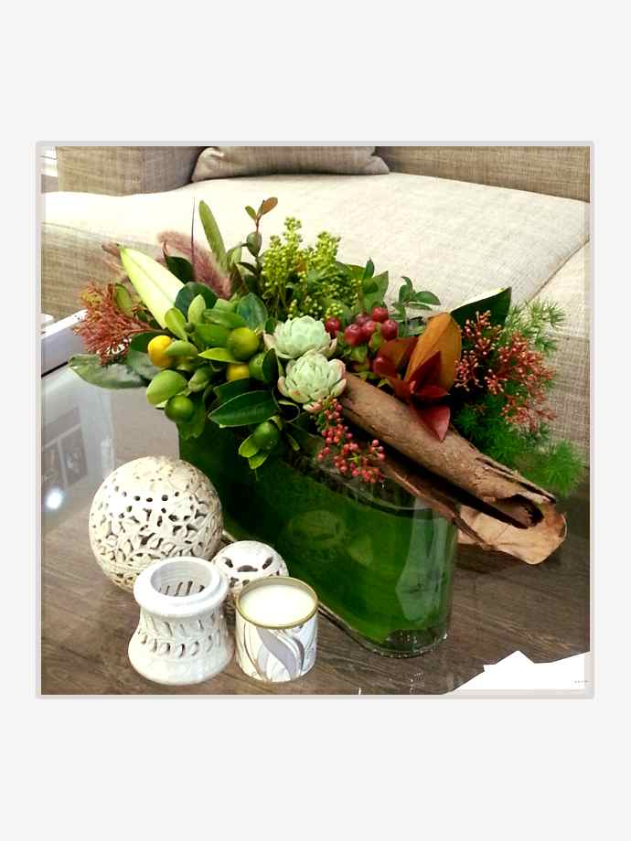 Long & Low Coffee Table Arrangement