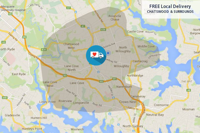 Free Local Delivery Areas Chatswood North Shore Love Our Work Online Florist